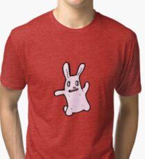 spooky bunny rabbit cartoon Tri-blend T-Shirt