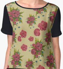 photo of fabric pattern with red flowers Chiffon Top