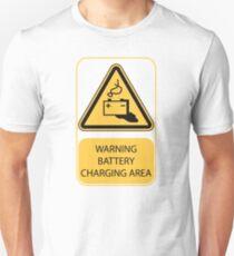 'Battery Charging' Warning sign Unisex T-Shirt