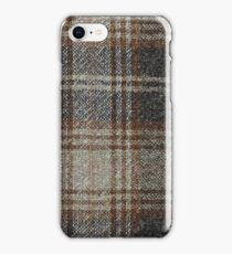 photo of fabric _with checks pattern iPhone Case/Skin