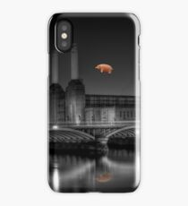 Battersea pink floyd edit iPhone Case/Skin