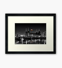 Battersea pink floyd edit Framed Print