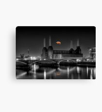 Battersea pink floyd edit Canvas Print