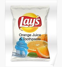 Lays - Orange Juice and Toothpaste Poster