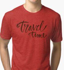Travel time Tri-blend T-Shirt