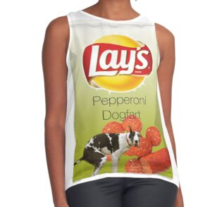 Lays Pepperoni Dogfart Leggings By Tolcarne Redbubble