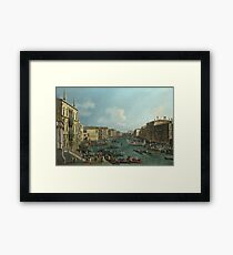 Canaletto - A Regatta On The Grand Canal Framed Print