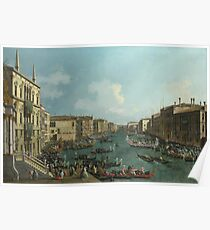 Canaletto - A Regatta On The Grand Canal Poster
