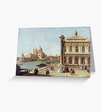 Canaletto - Entrance To Grand Canal, Venice Greeting Card