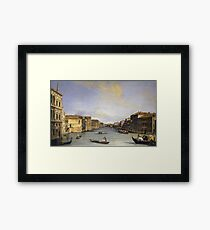 Canaletto - Grand Canal From The Palazzo Balbi Framed Print