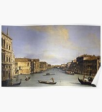 Canaletto - Grand Canal From The Palazzo Balbi Poster