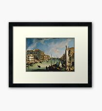 Canaletto - The Grand Canal From San Vio, Venice Framed Print