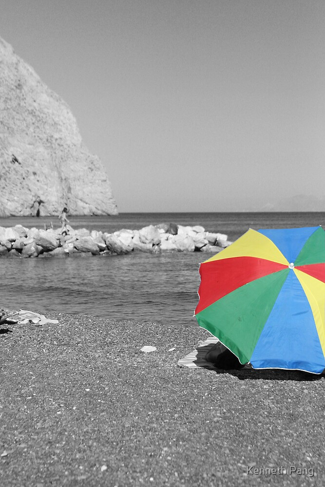 Beach Umbrella 1 by Kenneth Pang
