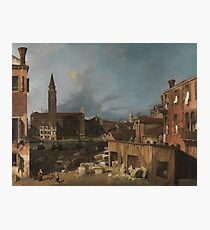 Canaletto - The Stonemasons Yard Photographic Print
