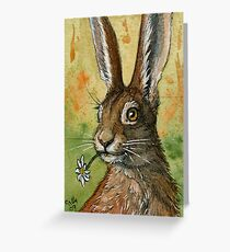 Funny Rabbits - One Daisy For You 488 Greeting Card