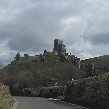 Approaching Corfe Castle, Dorset by MagsWilliamson