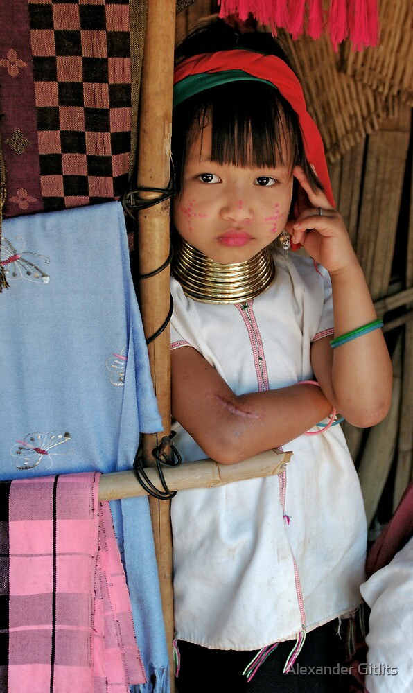 Hill-tribe girl 1 by Alexander Gitlits