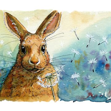 Funny Rabbits - with Dandelions 548 by schukinart
