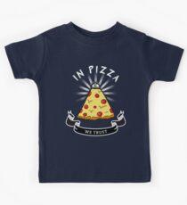 Pizza Illuminati Funny All Seeing Eye Food Humor Kids Tee