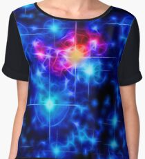 Cosmic Connection, Galaxy, Space, Nebula, Stars, Planet, Universe,  Women's Chiffon Top