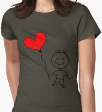 Guy in love Womens Fitted T-Shirt