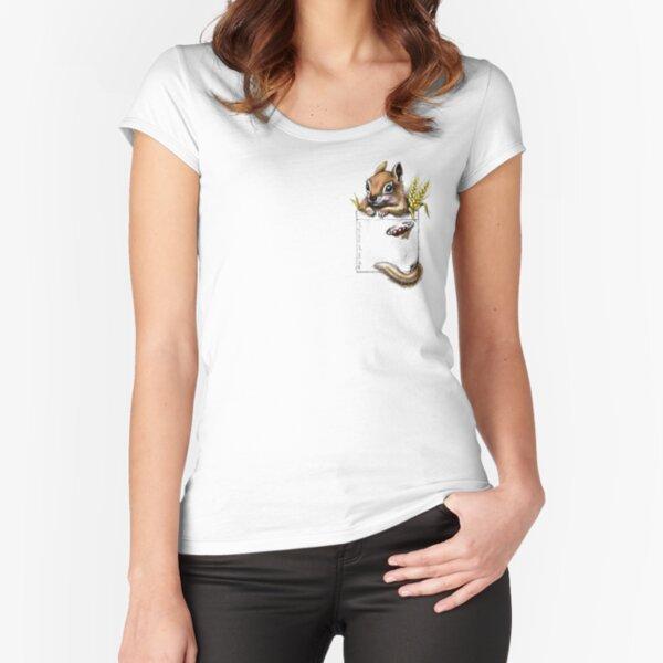 Pocket chipmunk Fitted Scoop T-Shirt