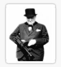 Churchill. Sticker