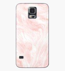 Rosa Marmor Hülle & Klebefolie für Samsung Galaxy