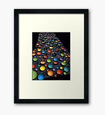coloured bowls Framed Print