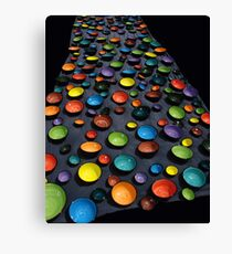 coloured bowls Canvas Print