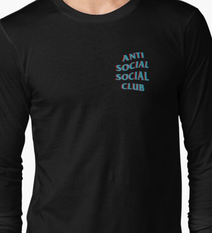 Anti Social Social Club Blue and Red Long Sleeve T-Shirt