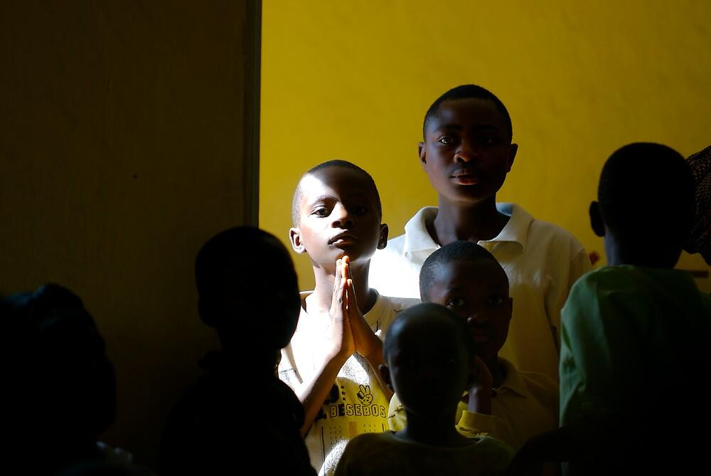'Child in church,' Northern Rwanda by Melinda Kerr