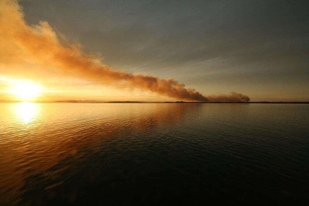 Smokey Sunset by Adam Tibballs