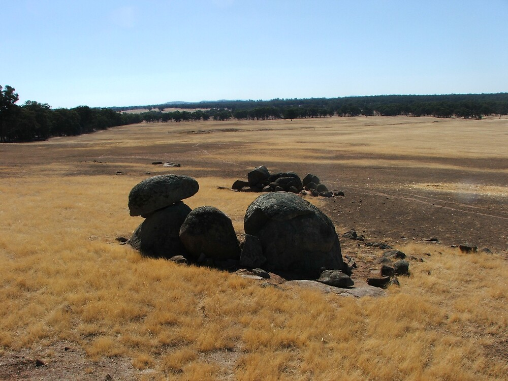 Outback of Victoria in a rock shell by RapidWeb