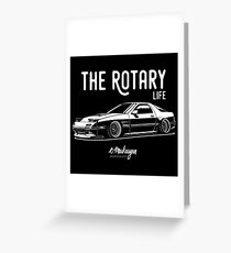 RX7 FC3S. Rotary Life Greeting Card