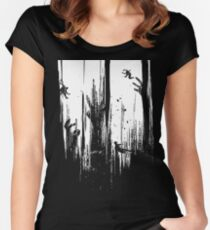 DYING LIGHT  Women's Fitted Scoop T-Shirt