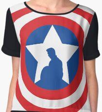 Cap's Shield Women's Chiffon Top