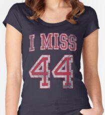 Ich vermisse 44 Barack Obama Tailliertes Rundhals-Shirt