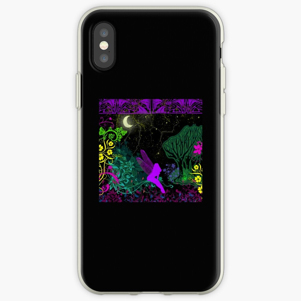 Moon Fairy by Julie Everhart iPhone Case & Cover