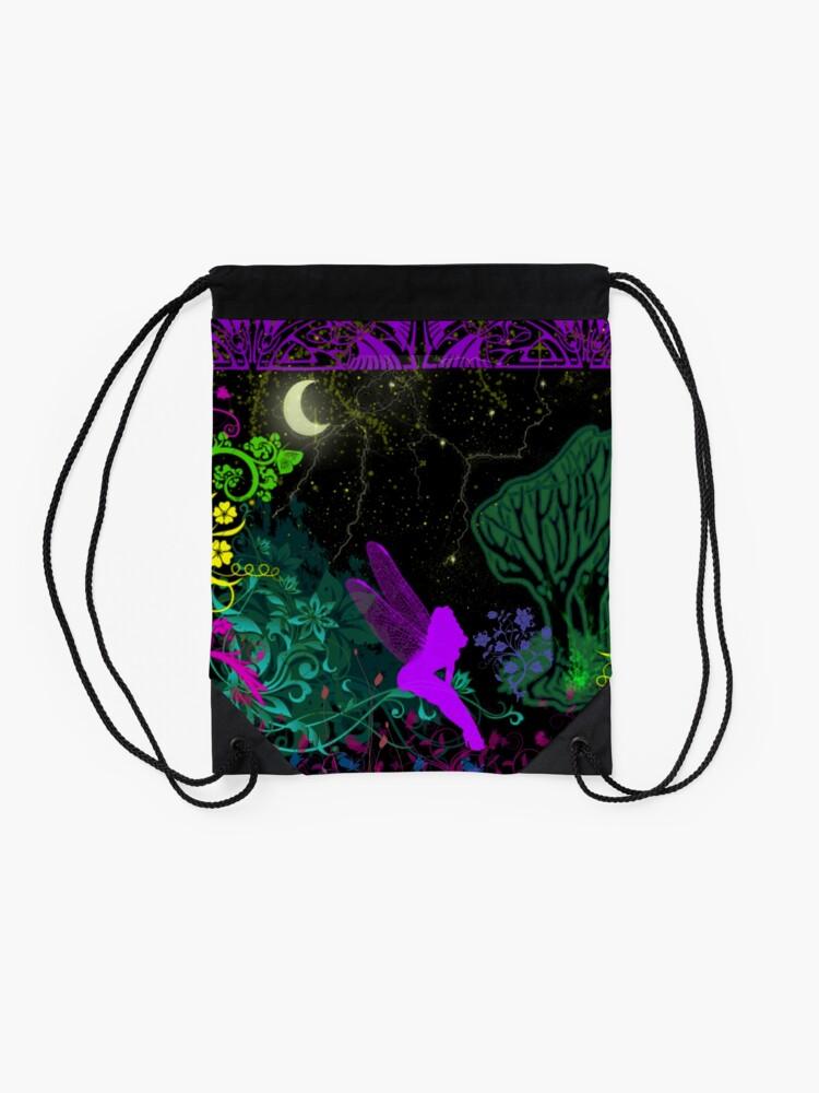 Alternate view of Moon Fairy by Julie Everhart Drawstring Bag