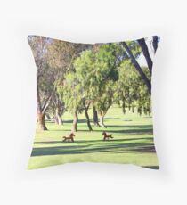 Lonely rocking  horses Throw Pillow