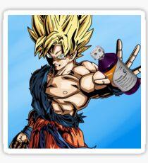 Goku on lean Sticker