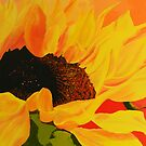 Sunflower at sunset by Jennib