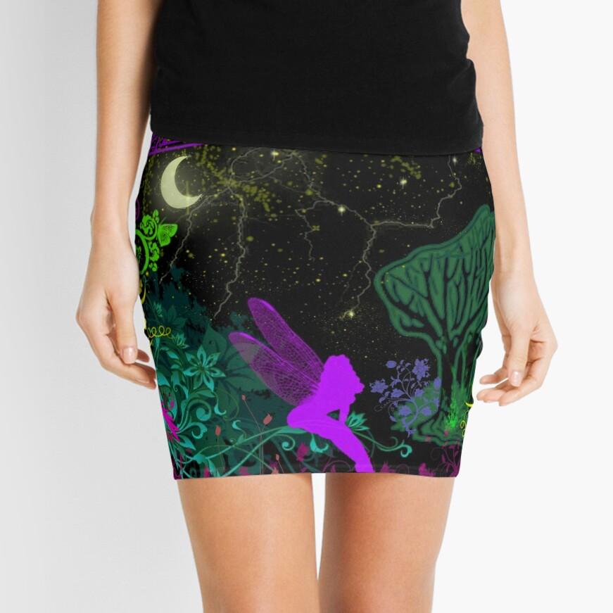 Moon Fairy by Julie Everhart Mini Skirt