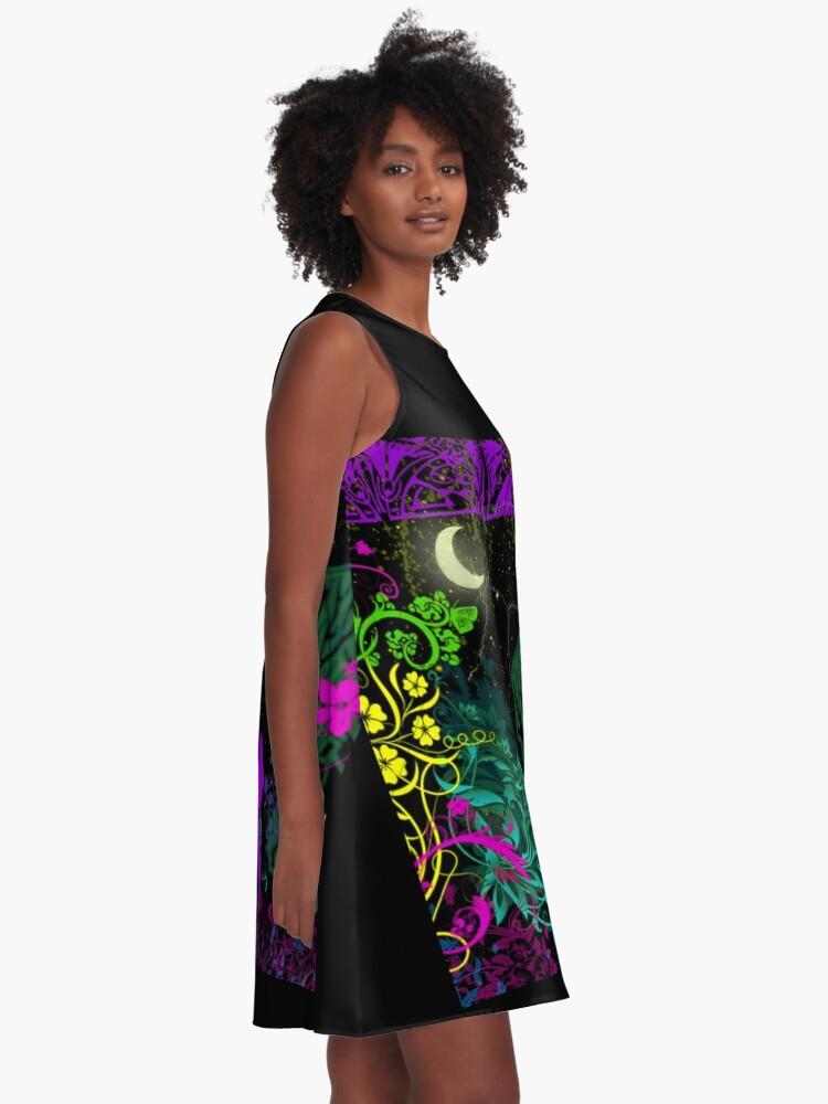 Alternate view of Moon Fairy by Julie Everhart A-Line Dress