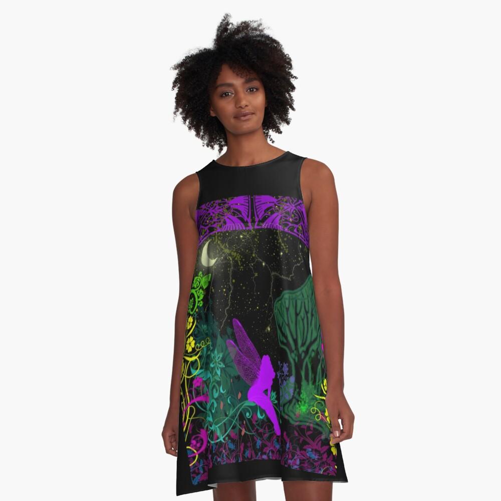 Moon Fairy by Julie Everhart A-Line Dress