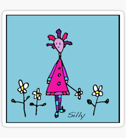 Silly Picked Flowers Sticker