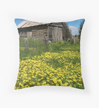 Yellow Daisies Snake Valley Throw Pillow