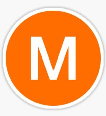 M Train Official Subway Logo Sticker