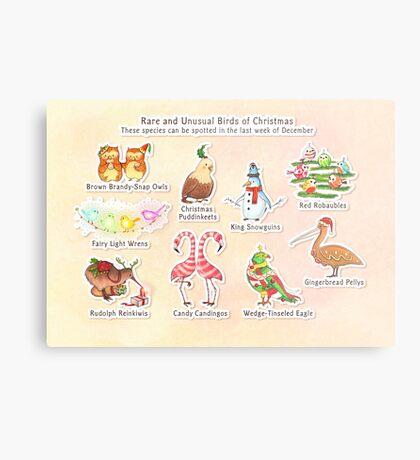Rare and Unusual Birds of Christmas Metal Print